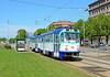 CKD Tatra T3A 30917 departs Grecinieku iela on service 5.