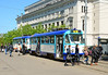 Tram 30286 on service 5 is seen outside the Opera house. The Trams are heavily used & offer a superb view of Riga.