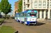 50999 is seen at Janvara iela on service 4.