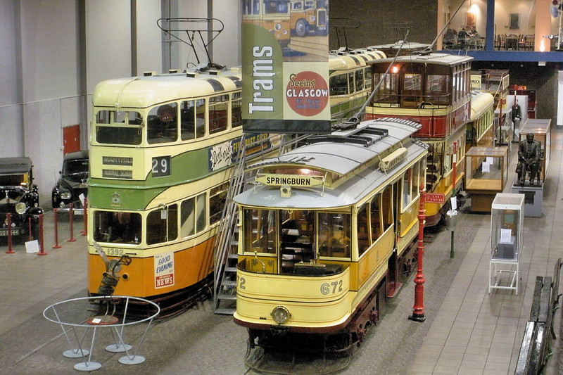 672 Glasgow Tram & 1392 Glasgow Tram - Glasgow Museum of Transport  Alasdair MacCaluim