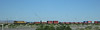 Distributed power on the tail of an eastbound intermodal consist, just east of Yuma, Arizona.