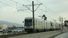 """L.A. Gold Line, running inbound in the median of the 210 """"Foothill"""" freeway."""