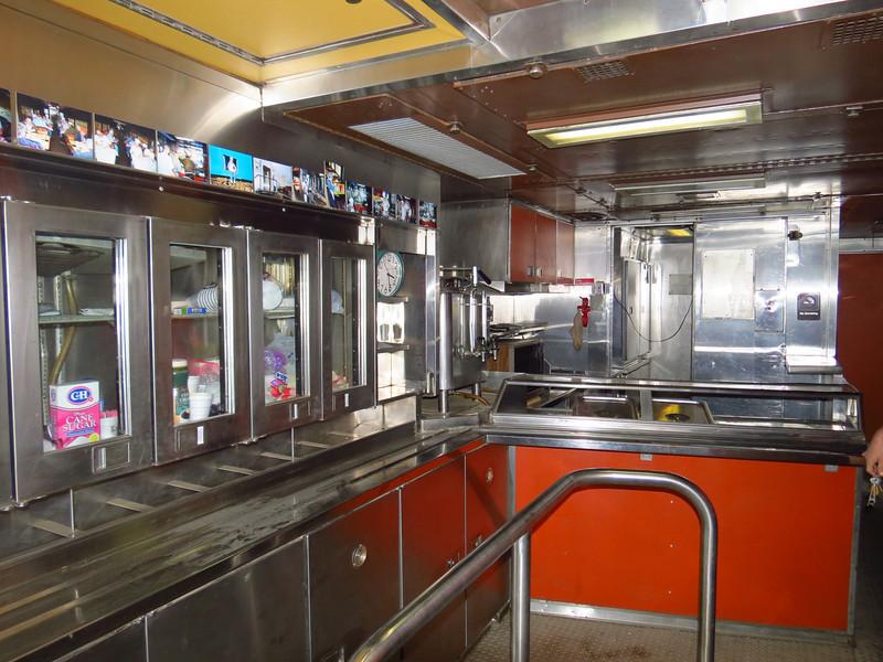 "Interior of the ""Wanda Lee,"" originally built as an Army medical services car."