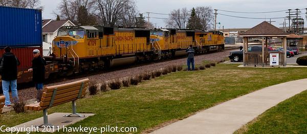 Rochelle Train Park at the UP + BNSF Interchange