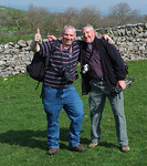 Ian and John in happier times at Smaredale.14/04/2007.