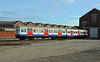 In Eastleigh works a pair of redundant London Underground A stock trailer cars, seemingly in better nick than those remaining in service