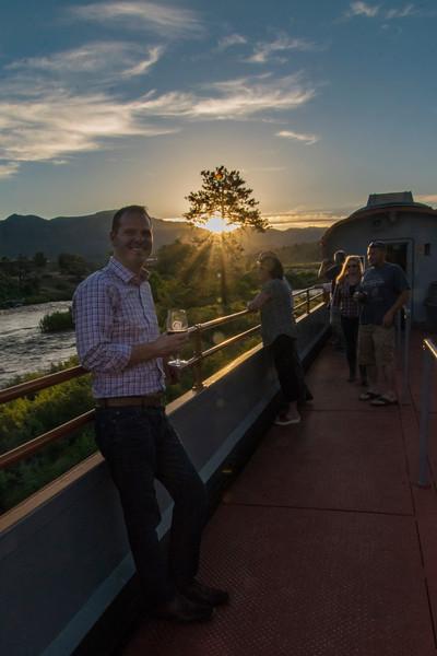Sunset along the Arkansas River