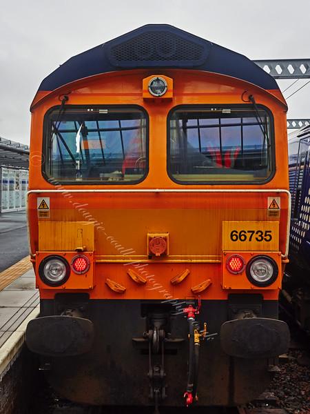 British Rail Class 66 Locomotive (66735) at Gourock Station - 3 May 2015
