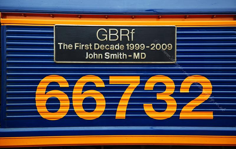 British Rail Class 66 Locomotive (66732) at Gourock Station - 3 May 2015