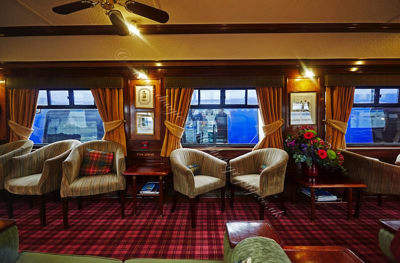 Royal Scotsman Carriage Interior at Gourock Station - 3 May 2015