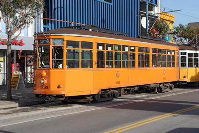 San Francisco F Line 1928 Milan tram No. 1859 at Beach & Jones on a service to Castro. 26/04/2007.