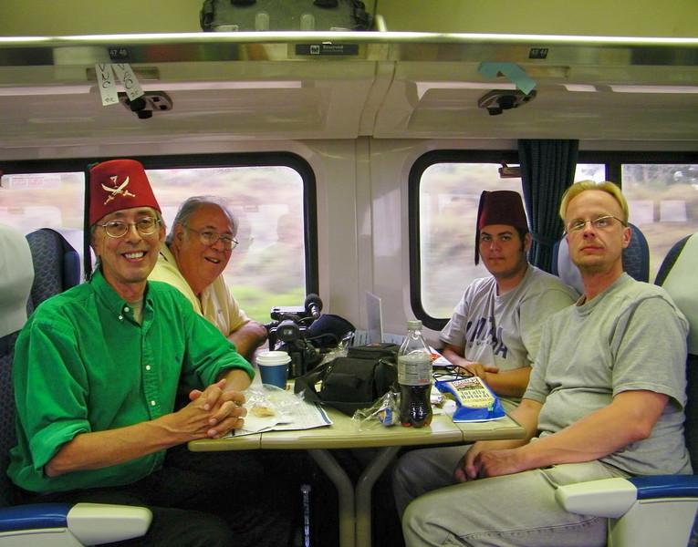 L-R: WhoozOn1st, GG-1, Long Train Runnin', chuljin. Photo by Greg Train Runnin' (Long's dad).