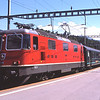 11211 rolls into Arth-Goldau with IR2280 10:45 Locarno-Zurich HB, 31/7/2012.
