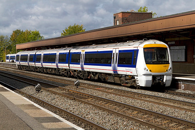 168111 stands in Leamington Spa whilst working the 11.55 Birmingham Moor Street to Marylebone. 21/09/2011