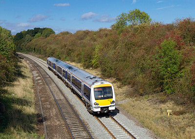 168214 passes through Whitnash Cutting forming the 13.12 Birmingham Snow Hill to Marylebone. 21/09/2011