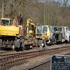 Case Poclain 688BP, Liebherr A902ZW, 73202 & PlasserRU411 - Highley, Severn Valley Railway - 21 March 2014