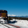 Train is stopped at Fir Station at the summit of La Veta Pass, CO (elevation 9,242')  2/25/12