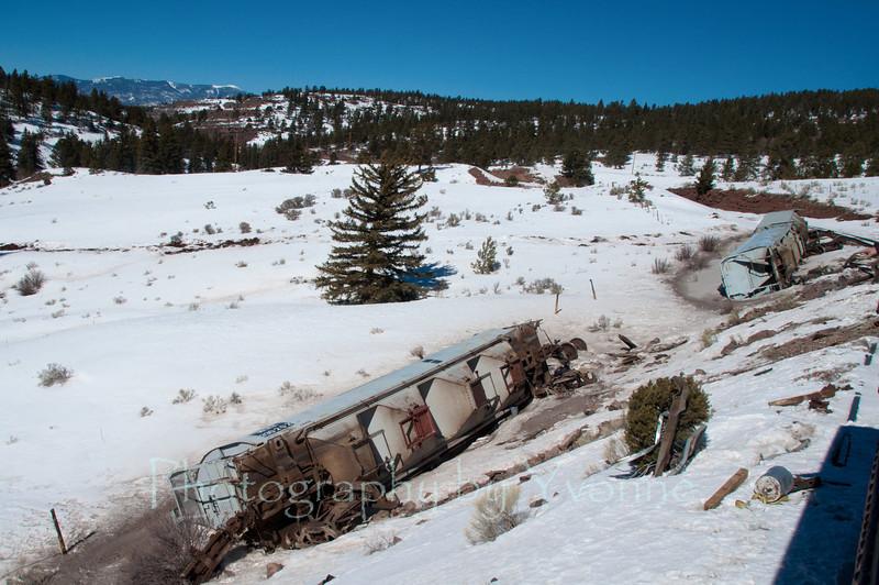 Feb. 2012:  3-car derailment. Freight cars hauling perlite over La Veta Pass. No injuries.