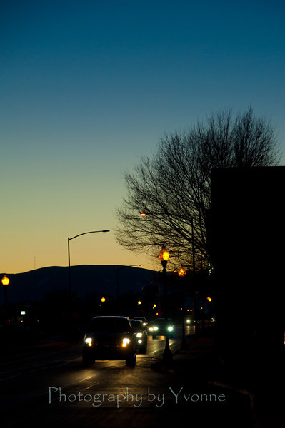 Alamosa CO evening street shot.