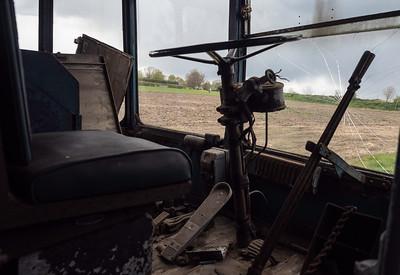 Driver's cab of Bradford Sunbeam Trolleybus