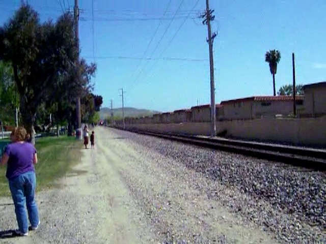 Nice pass at San Juan Capistrano, despite obnoxious late arrivals who had just arrived and kept walking in front of me.  And you can't say anything cuz that would further degrade the video.  This kind of ill behavior is unfortunately quite common at popular rail - and especially steam - events.