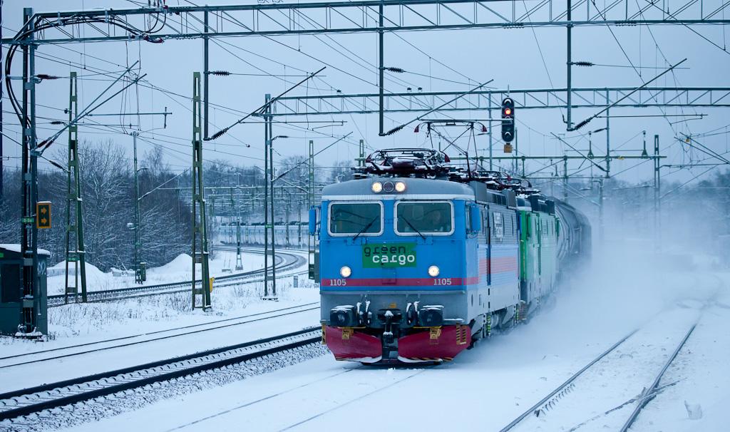 Freight train in Älvsjö.