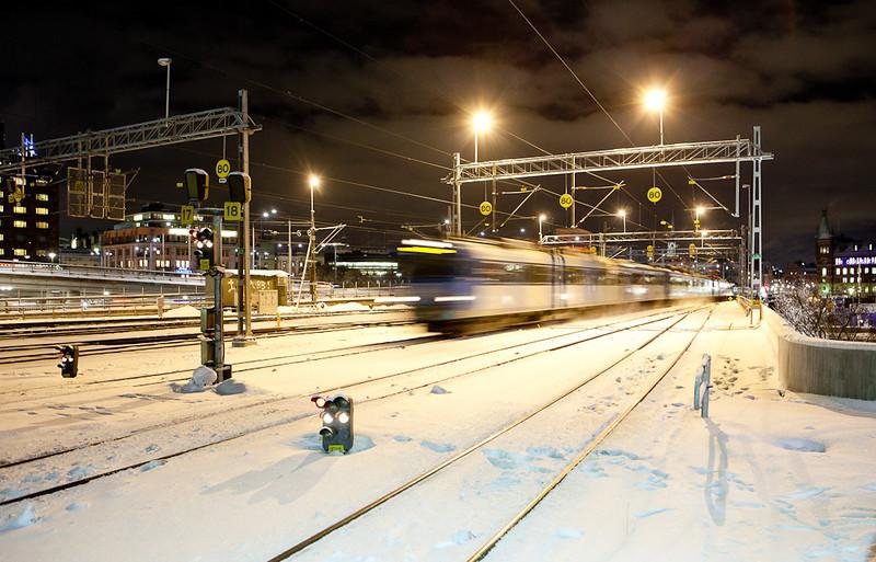 X12 arrives at Stockholm C.