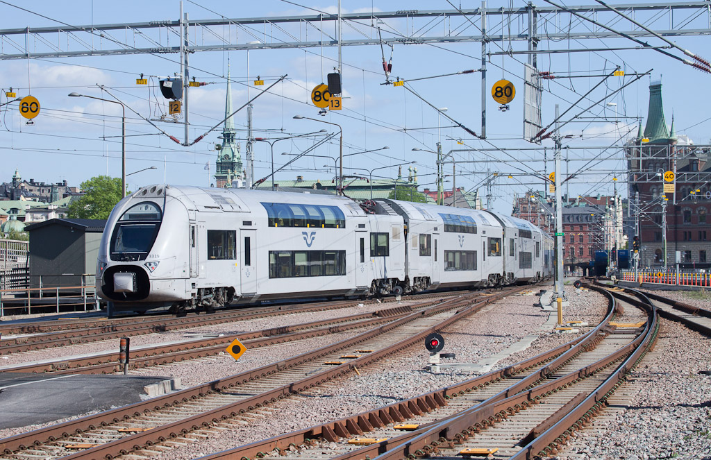 X40 leaving Stockholm Central station.