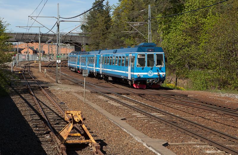 Roslagsbanan 150 south of Mörsby Verkstätt.