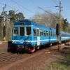 Roslagsbanan 121 in Mörby.