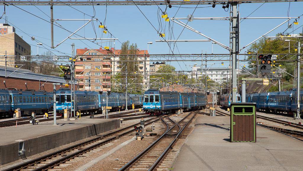Roslagsbanan in Stockholm Östra.