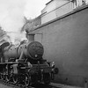 """Dundee's """"pet' loco - Ivatt Mogul 46464 at Arbroath on 21/08/65 with the Carmylire branch freight. New at St Margarets in December 1950 she was withdrawn in September 1966 and headed off into preservation."""