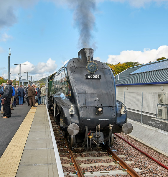 'Union of South Africa' at Tweedbank Railway Station - 8 October 2015