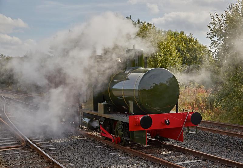 Fireless Locomotive at Scottish Industrial Railway Centre - 27 September 2015