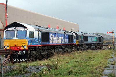 66411 and 66422 in Sellafield up shunt neck.