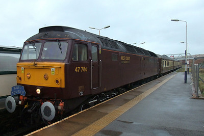 47786 Roy Castle OBE rolls through Sellafield with a Railtourer charter from Carlisle.