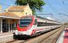 Alstom built class 465 Emu 9-465-226-9 arrives at Massanassa on a stopping service to Gandia.