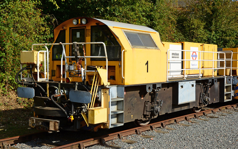 "TransPlant Schoma diesel locomotive 1 ""Britta Lotta"" is seen stabled at Ongar."