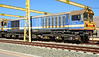 """58047 the former """"Manton Colliery"""" basks in the hot spanish sun, in its faded Continental Rail livery."""