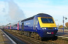 FGW power car 43091 ready to depart Didcot Parkway bound for London Paddington 24/11/2014.