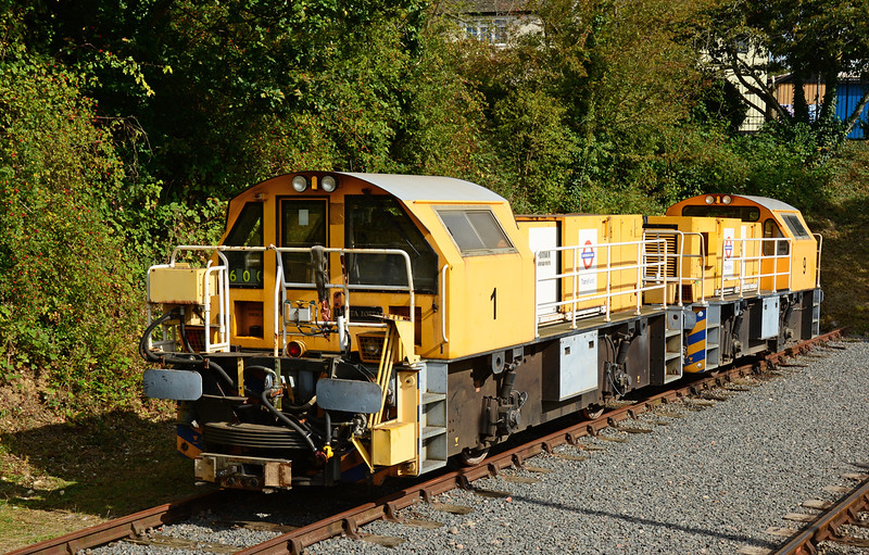 """Schoma locomotives 1 & 9 """"Debora"""" bask in the sun at Ongar during the end of Tube weekend.<br /> I have never photograped these London Underground diesel locomotives or travelled behind one, so the trip to Ongar was a double first."""