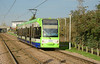 Croydon TramLink 2542 seen on the approach to Waddon Marsh, on service 4 to Elmers End 29/11/2014.