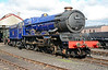 GWR 6023 King Edward II basks in the sun at the Didcot Railway centre 11/10/2014.