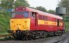 31466 in its striking EWS livery is seen in Ropley yard during the Diesel gala.