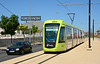 My first visit to Murcia in Southern Spain. Here we see Tranvia De Murcia 151 on the approach to Principe Felipe. This shot taken in 36 degree heat.