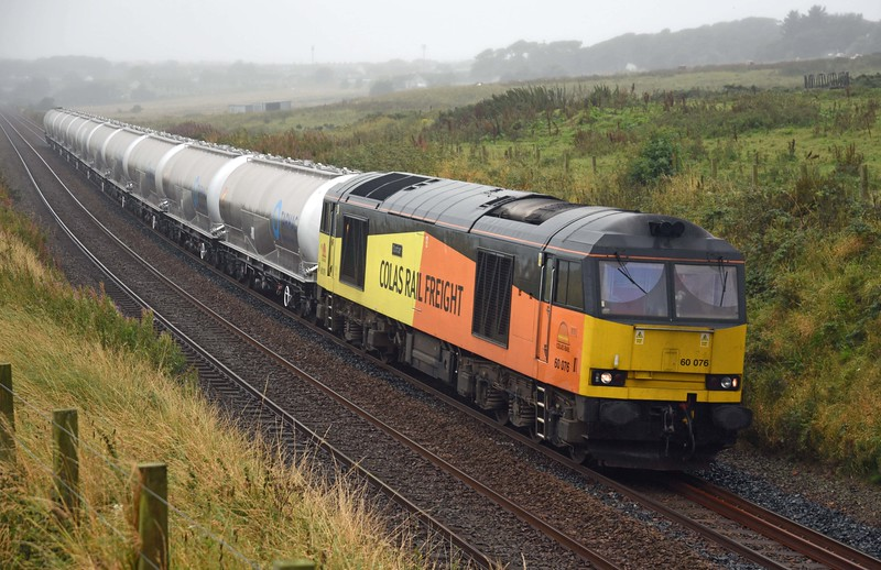 60076 at Burnbanks, Cove with a full complement of JPAs on a misty Wednesday 14th September