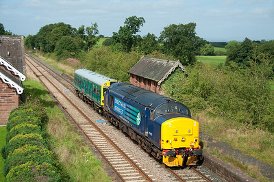 37419 and Caroline pass Cumwhinton heading for York 4/9/12.