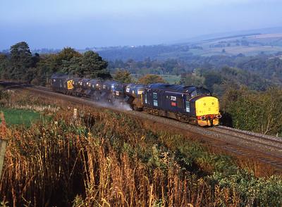 37229 + 37029 top & tail the RHTT near Armathwaite 16/10/05.