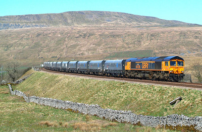 66726 Ribblehead 19th April 2018 12.31hrs. 6M38  11.25 Arcow Quarry GBRf-Bredbury Tilcon  GBRf