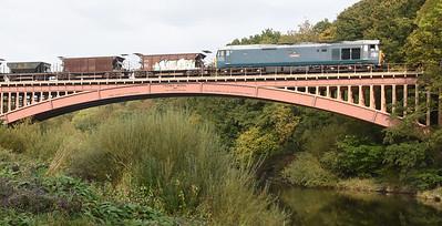 50008 crosses Victoria Bridge with 1555 Highley @ Kidderminster engineers